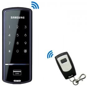 Электронный дверной замок Samsung SHS-1321W XAK/EN с пультом дистанционного управления