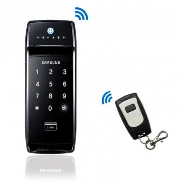 Электронный дверной замок Samsung SHS-2320W XMK / EN с пультом дистанционного управления