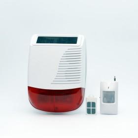 Автономная свето-шумовая сигнализация с питанием от солнечной панели ALFA A2S