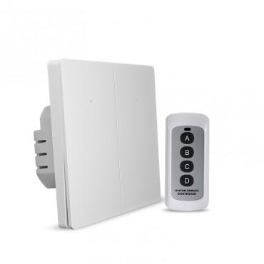 Выключатель света с WiFi подключением АВК-606-К2 (2 клавиши, пульт) Белый матовый