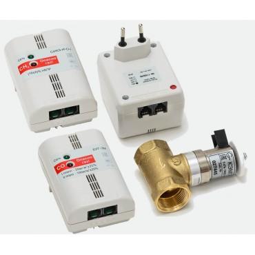 Комплект контроля загазованности природный и угарный газ и клапан СИКЗ+БУГ-25