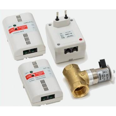 Комплект контроля загазованности сжиженный и угарный газ СИКЗ-C+БУГ-15