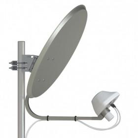 UMO-3F MIMO 2*2 – облучатель LTE1800/3G/LTE2600 MIMO 2x2/75 Ом/2*F-female