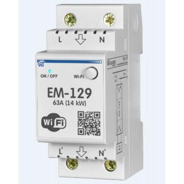Вводное реле с WiFi управлением с функцией защиты и контроля электроэнергии ЕМ-129