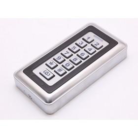 Считыватель уличный RFID меток в металлическом корпусе с влагозащитой IP65 (чип EM, 125 кГц) со встроенной клавиатурой и кнопкой вызова ALFA CK-5.1