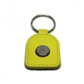Брелок кожаный с ключом ключ Touch Memory RW1990 (перезаписываемый iButton)