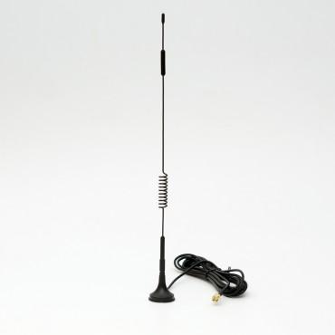 Антенна для GSM устройств 2G, 3G, 4G сетях, с усилением 7dbi, с магнитным основанием и 3-метровым кабелем SMA папа