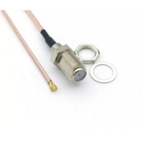 Пигтейл, адаптер IPX U.FL IPEX к F разъему коаксиальный кабель RG178 (20 см)