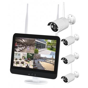 Комплект беспроводного WIFI IP видеонаблюдения ALIP0402M 4 камеры 2 МП монитор