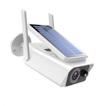 Уличная IP WIFI видеокамера KDM-BX02B (P2P, ICSEE, Xmeye) со встроенным инфракрасным датчиком движения и солнечной панелью