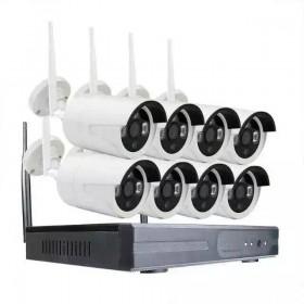 Wi-Fi видеокомплект NKITR08BWL (8 камер + видеорегистратор)