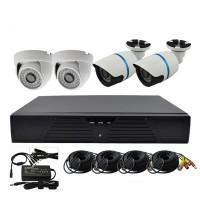 Комплект видеонаблюдения AHD 720P 4 камеры