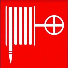 Влагостойкая наклейка «Пожарный шланг»