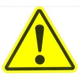 Универсальная наклейка «Внимание! Опасность!»